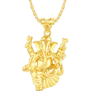 VK Jewels Ganraj Gold Plated Alloy Pendant With Chain for Women [VKP2508G]