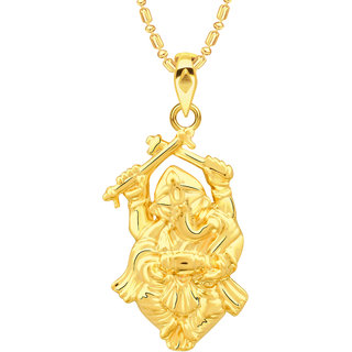 VK Jewels Ganesh Gold Plated Alloy Pendant With Chain for Women [VKP2680G]