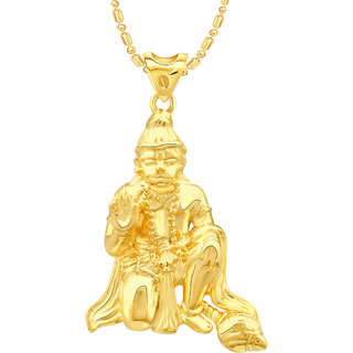 VK Jewels Hanuman Gold Plated Alloy Pendant With Chain for Women [VKP2682G]