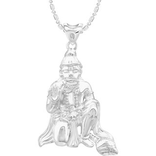 VK Jewels Hanuman Rhodium Plated Alloy Pendant With Chain for Women [VKP2690R]