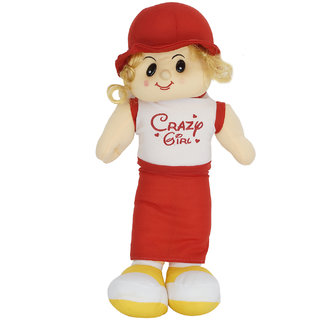 Aarushi Soft Toy Crazy Girl Doll 13 Cm