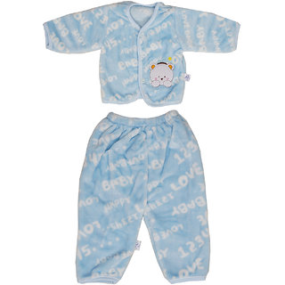 Aarushi Printed Top-Pyjama Set for Baby Boys Blue