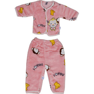Aarushi Printed Top-Pyjama Set for Baby Boys Pink