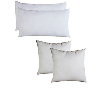 Z Decor  Vacuum Combo 2 Pillow  2 Cushion 12 Inches Filler Inches