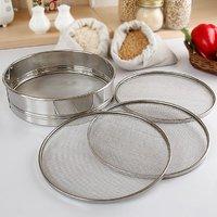 Sieve / Flour Sieve - Stainless Steel - Matte Finish - Kitchen Essentials