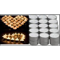 Buy Pack Of 100 Pcs WHITE Tea Light Candles, DECORATION - 129166445