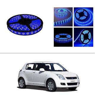 AutoStark 5 Meters Waterproof Cuttable LED Lights Strip Roll-Blue- Maruti  Suzuki Swift
