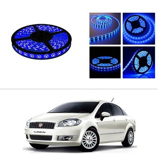 AutoStark 5 Meters Waterproof Cuttable LED Lights Strip Roll-Blue- Fiat Linea (Prior 2014)