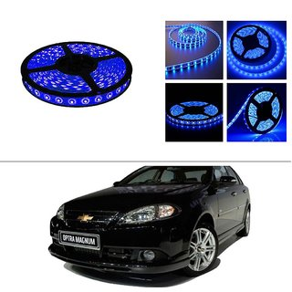 AutoStark 5 Meters Waterproof Cuttable LED Lights Strip Roll-Blue- Chevrolet Optra Magnum