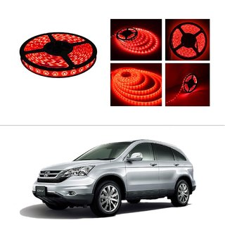 AutoStark 5 Meters Waterproof Cuttable LED Lights Strip Roll-Red- Honda CRV (Till 2014)