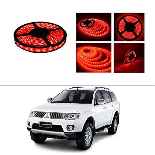 AutoStark 5 Meters Waterproof Cuttable LED Lights Strip Roll-Red- Mitsubishi Pajero Sports
