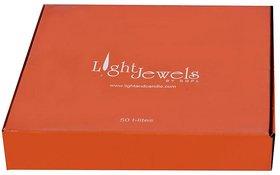 Light Jewels Wax 50 Regular Tea-Light Candle (Set of 50, 38 MM Diameter, 3.5 hour burn time)