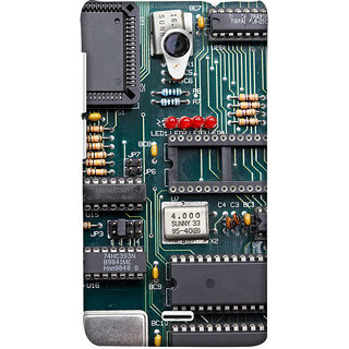 PrintHaat Mobile Back Cover For Micromax Unite 2 A106 :: Micromax A106  Unite 2 (Circuit Board :: Green)