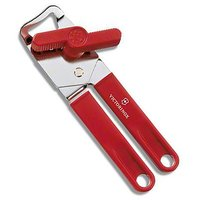 Can Opener - Stainless Steel - Matte Finish - Red Color - Kitchen Essentials