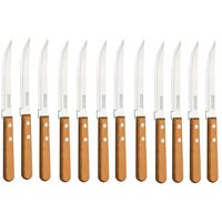 Slicing Knife - Chef Knife - Stainless Steel - Wooden Handle - Set Of 12