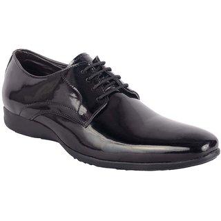 ShoeAdda Black Classy Patent Shoe 5002