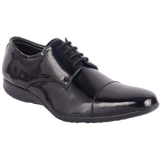 ShoeAdda Black Classy Patent Shoe 5003