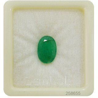 only4you 6.75 Ratti Beautiful Green Emerald Panna Certified Gemstone