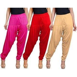 Eazy Trendz Viscose Lycra Patiala Pack of 3