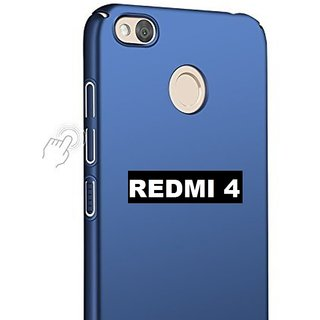 new products b5929 2ac16 iPAKY 360 Degree Full Protection Front Back Cover Case with Tempered Glass+  Cleaning paper For Redmi 4 360 Degree Blue Color
