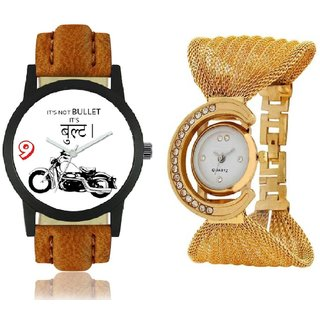 KDS Rocky Bullet Julo Gold Cupple Watch in Combo-2 Boys And Girls Watch
