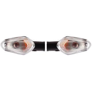 Autofy Halogen Side Indicator / Turning Light / Blinker Set for Hero Honda Passion Pro New Model (Set of 2 Black)