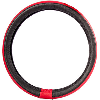 Autofy Leather Steering Wheel Cover / Grip for Maruti Suzuki SX4 (Black M)