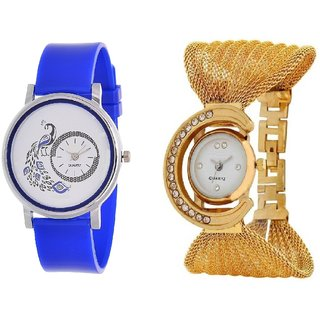 Womens Style Watch Combo - STYLISH Peacock WATCH