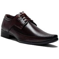 Dia A Dia Men's Brown Lace-up Derby Formal Shoes