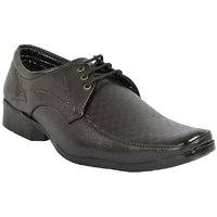 Dia A Dia Men's Black Lace-up Derby Formal Shoes - 129183467