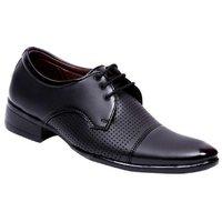 Dia A Dia Men's Black Lace-up Derby Formal Shoes