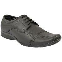 Dia A Dia Men's Black Lace-up Derby Formal Shoes - 129183700