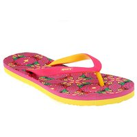 Sparx Pink & Yellow Women Flip Flop & Slippers (SFL-202