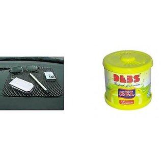love4ride Combo Car Non Slip Mat+ Gel Based Car Perfume