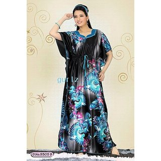 7fd9ce080d Womens Daily Sleep Gown Black Nighty 9305A Hot Maxi Bedroom Babydoll Lounge  Slip