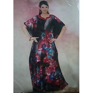 8548bf2f1 249A Daily Sleep Gown Hot Womens Maxi Black Lounge Wear Free Size Gift  Kaftan