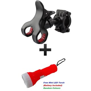 Bike Bicycle Motorcycle Mobile Cell Phone Holder Mount for Mobiles  GPS with Mini LED Torch