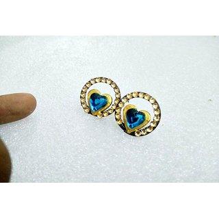 3D Printed blue stone earrings