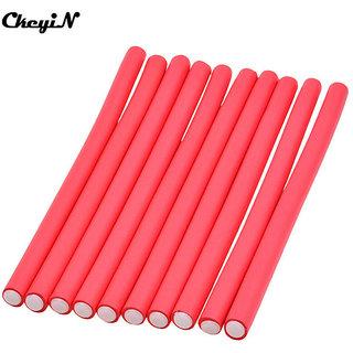 10pcs styling hair roller hair clip hair sticks(red)