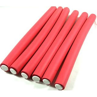 6pc styling hair curler hair clip hair roller(red)