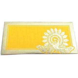 Parvenu Shagun Peacock Money Envelope with Golden Border in Multi Color.Box of 50 Pieces.