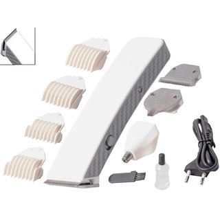 Men's 4 in 1 Professional Cordless Rechargeable Waterproof Bread Ear Nose Trimmer Shaver Hair Clipper Multi Grooming Kit at shopclues