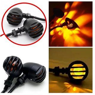 Bikers World Yellow Bike Motorcycle H Type Led Smd Indicator Turn Signal Lights Lamp