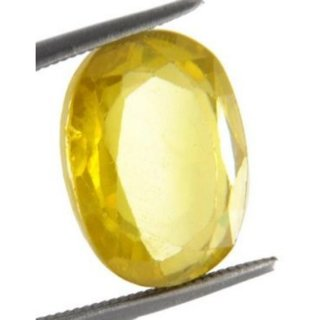 6.50 Ratti Super Quality Natural Yellow Topaz ,Substitute of Yellow Sapphire, Pukhraj