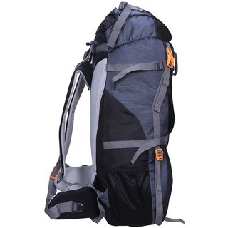 70a7c3d753 Gleam 0109 Climate Proof Mountain Hiking Trekking Campaign Bag Backpack 75  ltrs Orange Grey Rucksack with Rain Cover