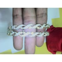 Gold Plated Crystal Studded Bangles (set Of 2)
