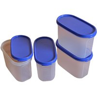 Tupperware container (Mm Oval 2 Container  1.1 Litres, 4-Pieces)