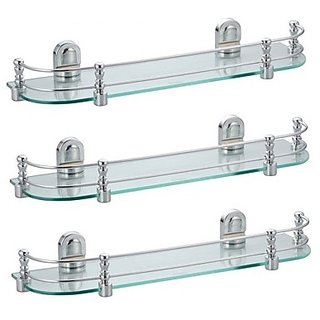 SSS - Glass Shelve Set of 3 pcs (Size - 20 Inches X 6.5 Inches 6MM Glass)