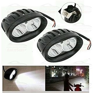 RA Bike Fog Light (20w) 2Led White set of 2 with switch