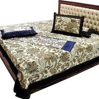 Shoppingtara Jaipuri Pure Cotton Double N Single Bedsheet C - 5926974